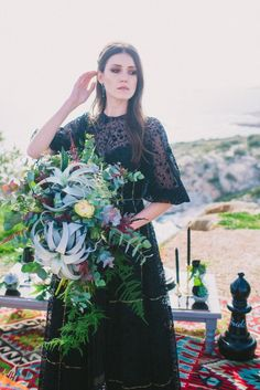 Black and white wedding escape that will steal your heart. Fall in love with these black and white images from this styled shoot in Athenian Riviera. Black N White Images, Black And White, Elopement Inspiration, Wedding Bouquets, Greece, Dresses, Style, Fashion, Black White