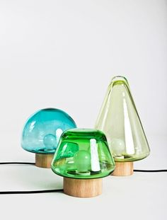 Lamps inspired by the woods designed by Caroline Olsson