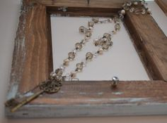 Long Beaded Vintage Key Necklace