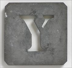 vintage french stencils | The Vintage Wall - Early 1900s French zinc metal letter stencil: 'Y'