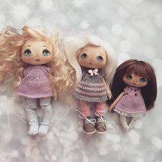 Вот такие разные мои девочки;) куколку в серединке можно купить;) #кукла #куклы #купить #куколка #олли #ручнаяработа #авторскаякукла #авторскаяработа #doll #dolls #artdoll #textilledoll #handmade
