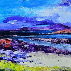 Kevin Fleming, Spring Light, Halaman Bay, Oil painting | Contemporary Scottish Art – Eduardo Alessandro Studios