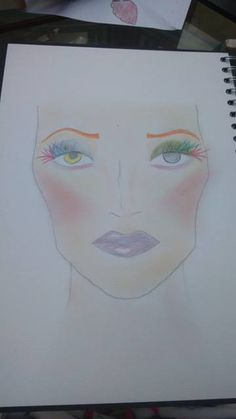 one of my first face charts for madam milliner