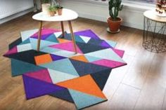 Recycled DIY Tangram Inspired Modular Carpet: Recently posted another carpet tiles based project and Carpet Diy, Best Carpet, Modern Carpet, Frieze Carpet, Carpet Tiles, Wall Carpet, Fries, Diy Recycle, Reuse