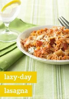 Pasta Recipes With Sausage | Lazy-Day Lasagna – Actually,
