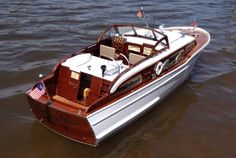 Chris Craft Model Boat... I'd love this, we lived right up the Mullica River from where these were made (RM)