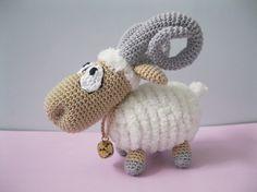 Crocheted ram, no pattern