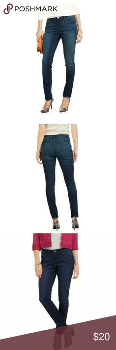 Faded Glory Super Strech Skinny Jeans Jeans feature:  Dark wash (see color in pics  3+4) super strech  zip and button closure  two front pockets with coin pocket  two back pockets  belt loops  contrast stiching - brn color  Average length  soft. strechy and comfty!! Faded Glory Jeans