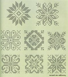 51 Ideas For Crochet Stitches Patterns Diagram Charts Fair Isles Crochet Stitches Patterns, Embroidery Patterns, Knitting Patterns, Loom Patterns, Star Patterns, Crochet Cross, Filet Crochet, Knitting Charts, Knitting Stitches