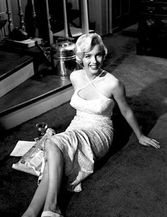 Marilyn on the set of Seven Year Itch