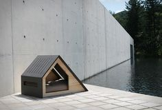 Give your four-pawed friend the ultimate in backyard retreats with the top 60 best dog house designs. Explore contemporary and modern pet pads. Small Dog House, Build A Dog House, Dog House Plans, House Building, Green Building, Building Plans, Tiny House, Modern Dog Houses, Cool Dog Houses