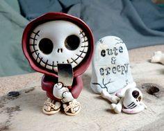 Zirio le moine squelette blanc vêtu d'une par themonsterofmyheart, $50.00
