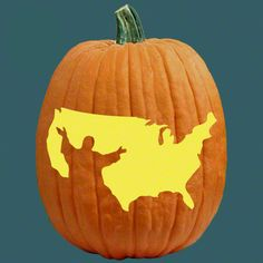 "One of 700+ FREE stencils for pumpkin carving and more! www.pumpkinlady.com ""One Nation Under God"" #FreePumpkinCarvingPattern"