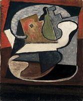 Pablo Picasso. Compotier avec poire et pomme, 1918