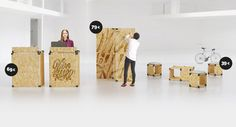 collection of furniture for event and temporary exhibition  #OSB