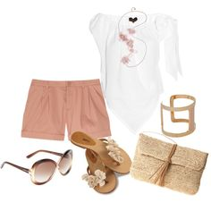 white & light pink, created by bonnaroosky.polyvore.com