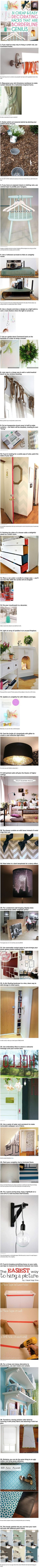 31 Cheap & Easy Decorating Hacks That Are Borderline Genius Pictures, Photos, and Images for Facebook, Tumblr, Pinterest, and Twitter