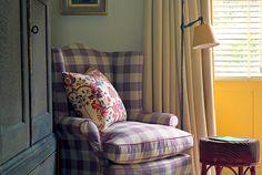 Lilac Gingham by Hugh Leslie design.