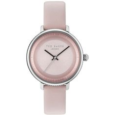 Ted Baker Isla Round Leather Strap Watch, In Pink/ Silver Ted Baker Watches, Ted Baker Fashion, Monochrome Watches, Silver Pocket Watch, Fashion Watches, Watches For Men, Men's Watches, Jewelry Watches, Jewels