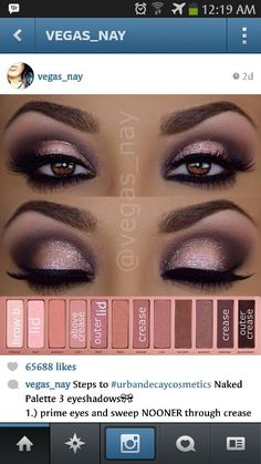 Beautiful Naked 3 Palette - So gorgeous! Can't wait to try this with my new palette!
