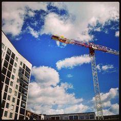 #Vuosaari #uusiarakennuksia #Neubauten #pilviä