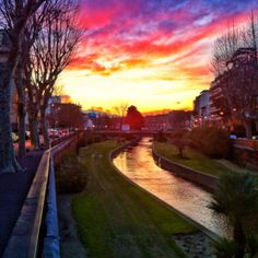 Purple sunset, Perpignan, France a lovely laid back city...transport everywhere by bus only one euro...the moroccan quarter was lovely...try the churros...yum