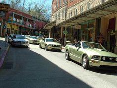 green mustang parade