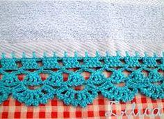 toalha com barrado de croche - Pesquisa Google