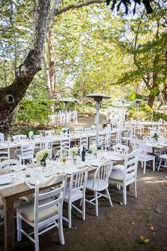 wedding reception, farm tables and chairs