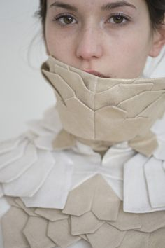 Jacket Collar detail - layers, colour & repetition - fabric manipulation for fashion; garment construction // Rebecca Pottkaemper