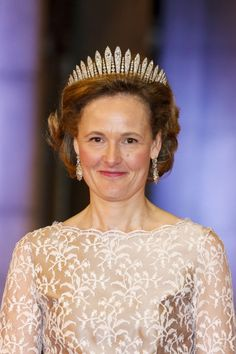 | THE HABSBURG FRINGE TIARA | It is thought to have been a wedding gift to H.I.R.H. Archduchess Maria Theresia of Austria, (1855-1944) for her 1873 marriage to H.I.R.H. The Archduke Karl Ludwig of Austria  (1833-96), brother of H.I.R.M. Emperor Franz Joseph I of Austria (1830-1916). This particular model is attributed to the Austrian jeweler Kochert, made it in the 1870s. | H.R.H. Hereditary Princess Sophie of Liechtenstein, née Duchess and Princess of Bavaria wearing THE HABSBURG FRINGE…
