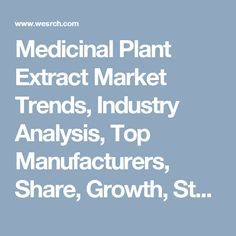Medicinal Plant Extract Market Trends, Industry Analysis, Top Manufacturers, Share, Growth, Statistics, Opportunities & Forecast: Medical Press Releases