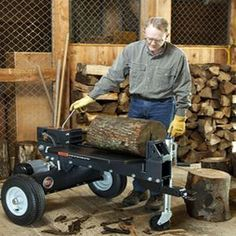If you're wanting a new log splitter, you may be looking into electric log splitter vs. a gas-powered model. DR Power Equipment has some insight for you. Electric Logs, Log Splitter, Mother Earth News, Livestock, Firewood, Homesteading, Woodburning