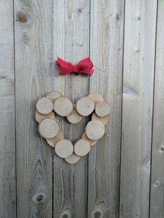 Birch Log Slice Heart by logslicesbymargie on Etsy
