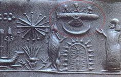ufo? Or symbol for the high god, Ahura Mazda for the early Persians, Ashur for the ancient Assyrians, Shamash for the Babylonians