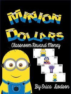 Minion Money! Minion Themed Classroom Management Reward Dollars