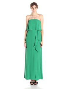 Felicity Asymmetrical Strapless Gown by BCBGMAXAZRIA