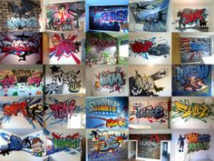 children / teen / Kids Bedroom Graffiti mural - #handpainted #graffiti #featurewall #design #graffitibedroom #interior #design #present #christmas #xmas #christmaspresent #gift #boysgifts #boyschristmasgifts #xmasideas #giftvouchers