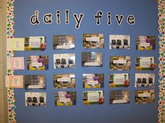First Grader...at Last!: The Daily Five Management strategy for independent groups during reading rotations.