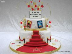 Walk the red carpet http://www.cakescrazy.co.uk/details/hollywood-red-carpet-cake-95291.html