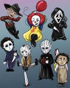 Headcanons, drabbles and imagines of horror all thrown together. Horror Cartoon, Horror Movies Funny, Horror Movie Characters, Horror Icons, Classic Horror Movies, Scary Movies, Cartoon Art, Horror Movie Tattoos, Comedy Movies