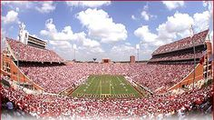 Gaylord Family Oklahoma Memorial Stadium- there's no place like it on Game Day! #boomersooner