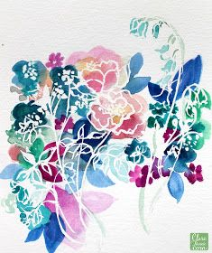 Clare makes: Masking fluid discovery!