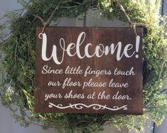 Please Leave Your Shoes At The Door Sign Home Decor by Shambalena