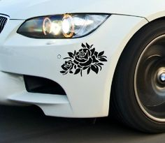Reflective Personality Flower Car Stickers Bonnet Hood Body Window Car Styling Golf 7 Stickers Removable