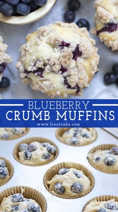 Bakery Style Blueberry Crumb Muffins These are a family favorite! Fluffy blueberry muffins topped with a buttery cinnamon crumble topping just like the bakery makes. Blueberry Crumb Muffins, Homemade Blueberry Muffins, Blue Berry Muffins, Blueberry Muffin Recipes, Easy Blueberry Desserts, Mini Muffins, Smores Dessert, Baking Recipes, Dessert Recipes