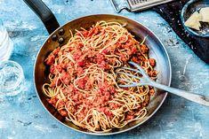 Snelle pasta bolognese - Chickslovefood