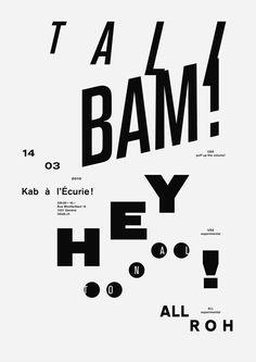 David Mamie and Nicola Todeschini (via It's Nice That: Cracking set of typographic gig posters from Todeschini Mamie)