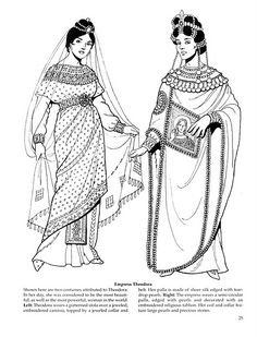 byzantine costume colouring book - tom tierney