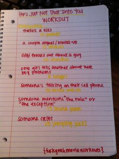he's just not that into you movie workout! Submission :)  Want to see more workouts like this one? Follow us here.